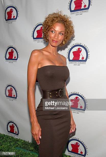 Nicole Murphy arrives at Michael Strahan's second annual celebrity golf tournament party, benefitting Supportive Children's Advocacy Network on July...