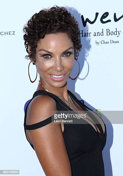 Nicole Murphy arrives at the HollyRod Foundation's 17th Annual DesignCare Gala at The Lot Studios on August 8 2015 in Los Angeles California