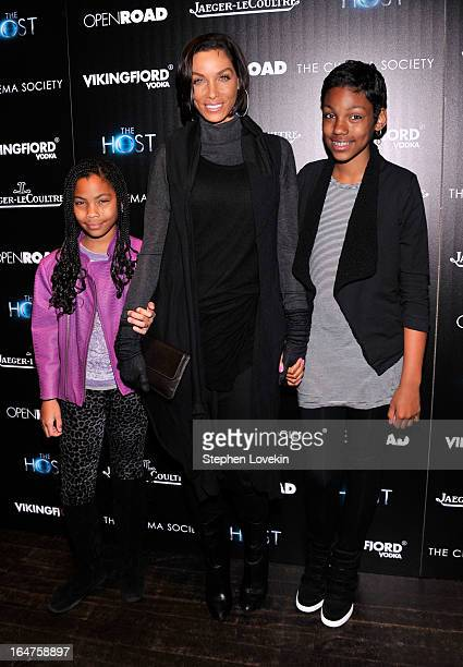 """Nicole Murphy attends The Cinema Society & Jaeger-LeCoultre Hosts A Screening Of """"The Host"""" at Tribeca Grand Hotel on March 27, 2013 in New York City."""
