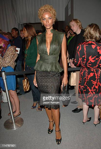 Nicole Murphy during Olympus Fashion Week Spring 2007 Baby Phat Front Row and Backstage at The Tent Bryant Park in New York City New York United...
