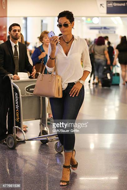 Nicole Murphy is seen at LAX on June 18 2015 in Los Angeles California