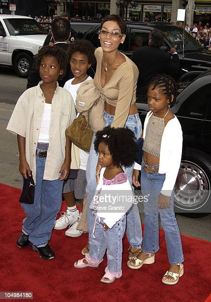 Nicole Murphy kids during ScoobyDoo Premiere at Grauman's Chinese Theater in Hollywood California United States