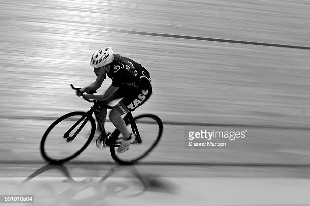 Nicole Murray of Te Awamutu competes in the Para-Cycling Women C1-5 3000m Individual Pursuit qualifying during the 2016 Southland Track...
