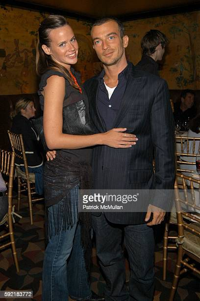 Nicole Nadu and Alex Lasky attend Derek Anderson and Victor Kubicek Supper for Stevie Wonder and Kai Milla at The Carlyle on September 11 2005 in New...