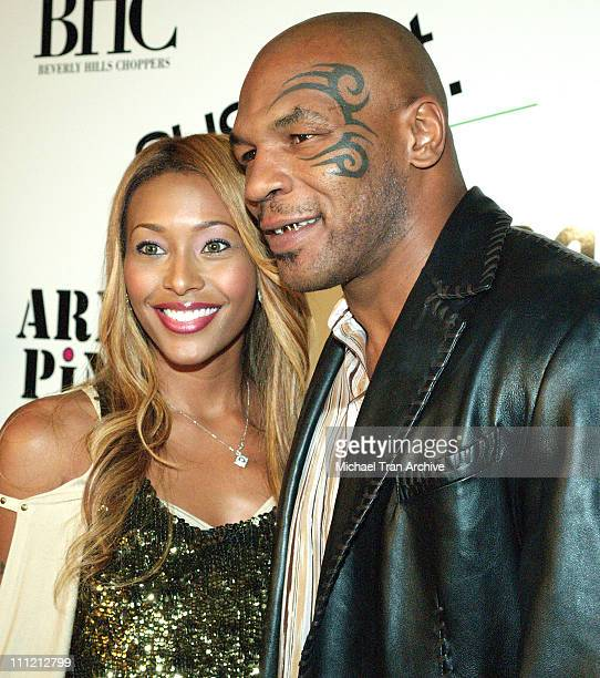 Nicole Narain and Mike Tyson during 944 Magazine Fashion Show Presents Suspect Army Pink October 20 2005 at Element in Hollywood California United...