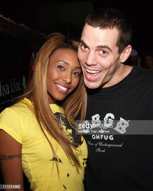Nicole Narain and SteveO during Lisa Kline Men Fall Fashion Night at Spider Club in Hollywood California United States