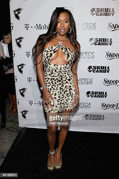 Nicole Narain attends the Famous Stars and Straps 10th Anniversary and Snoop Dogg's 10th album release Malice N Wonderland party at Vanguard on...