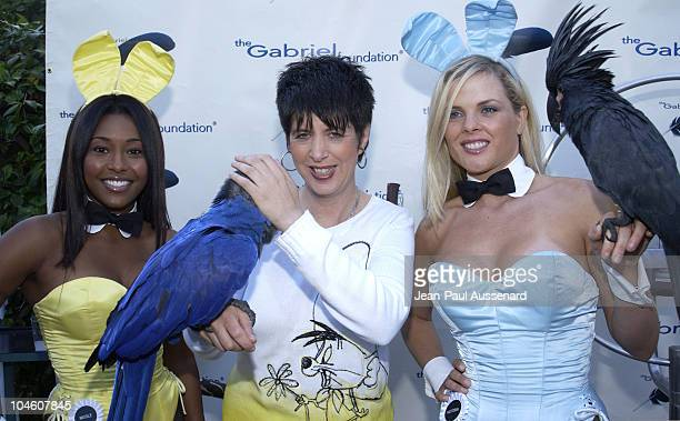 Nicole Narain Diane Warren Victoria Fuller during The Gabriel Foundation Presents Parrots In Paradise at The Playboy Mansion in Westwood California...