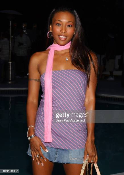Nicole Narain during Russell Simmons Work HardPlay Harder Lounge Sponsored by Courvoisier and W Hotel Arrivals at Poolside at W Hotel in Westwood...