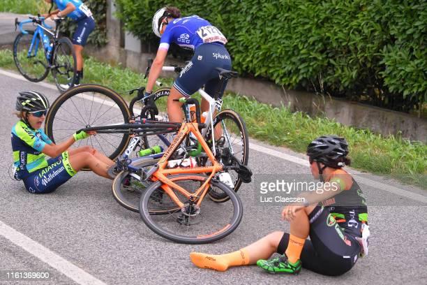 Nicole Nesti of Italy and Team Aromitalia - Basso Bikes - Vaiano / Leonora Geppi of Italy and Team Conceria Zabri - Fanini / Elisa Longo Borghini of...