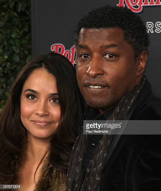 Nicole Nikki Pantenburg and musician Kenneth Babyface Edmonds arrives at 2010 American Music Awards After Party Hosted By Rolling Stone Magazine at...