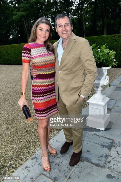 Nicole Noonan and Steven Knobel attend Katrina and Don Peebles Host NY Mission Society Summer Cocktails at Private Residence on July 7 2017 in...