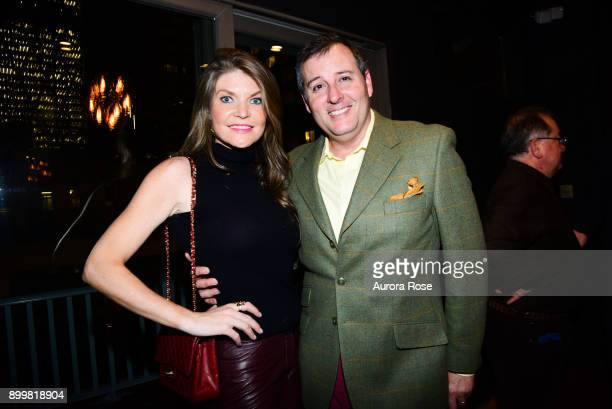 Nicole Noonan and Steven Knobel attend Tracy Stern hosts holiday party at private townhouse in Hell's Kitchen at Private Residence on December 14...