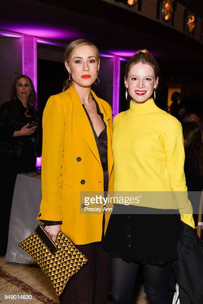 Nicole O'Neil and Lauren Post attend YAGP Stars of Today Meet The Stars of Tomorrow 2018 Gala on April 19 2018 in New York City
