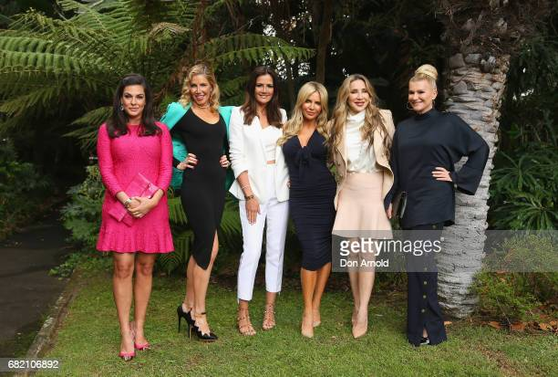 Nicole O'Neill AthenaX LevendiKrissy Marsh Melissa Tkautz Matty Samaei and Victoria Rees pose during a photo call for the Real Housewives of Sydney...