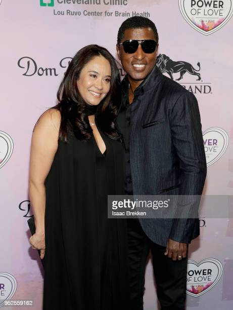 Nicole Pantenburg and Kenneth Babyface Edmonds attend the 22nd annual Keep Memory Alive 'Power of Love Gala' benefit for the Cleveland Clinic Lou...