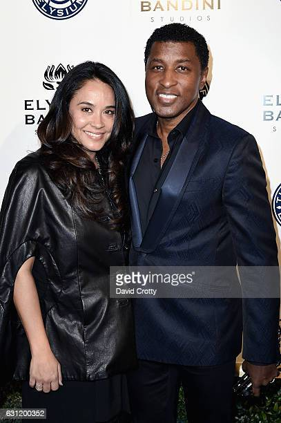 Nicole Pantenburg and Kenneth Edmonds attends The Art of Elysium presents Stevie Wonder's HEAVEN Celebrating the 10th Anniversary Arrivals at Red...