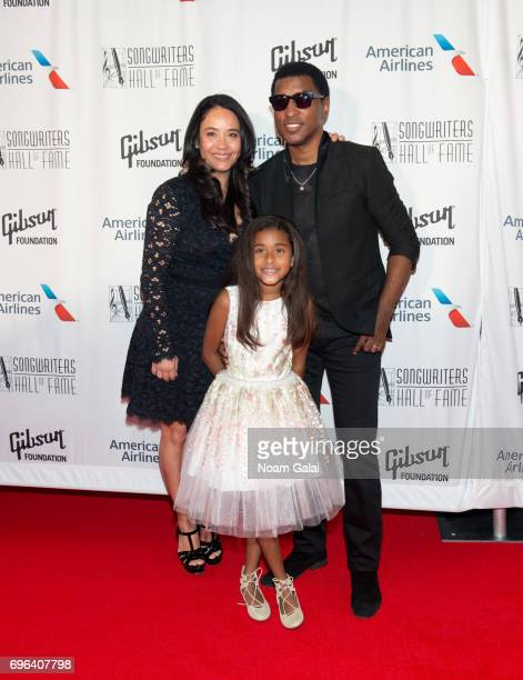 Nicole Pantenburg Peyton Edmonds and Kenneth 'Babyface' Edmonds attend the 48th Annual Songwriters Hall Of Fame Induction and Awards Gala at New York...