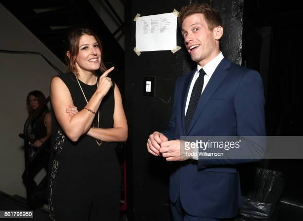 Nicole Parker and Barrett Foa attend National Breast Cancer Coalition Fund's 17th Annual Les Girls Cabaret at Avalon Hollywood on October 15 2017 in...