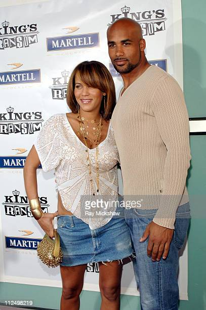 Nicole Parker and Boris Kodjoe during 'King's Ransom' Los Angeles Premiere Red Carpet at ArcLight Cinerama Dome in Los Angeles California United...
