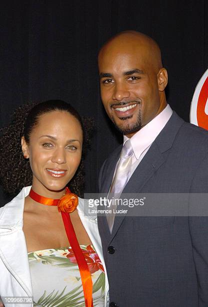 Nicole Parker and Boris Kodjoe during UPN Upfront 20042005 at Madison Square Garden in New York City New York United States