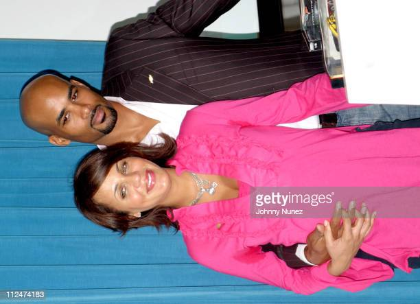 Nicole Parker and Boris Kodjoe during VIBE Presents Chevrolet SUV Spokespeople Enlisting at Viceroy Hotel in Santa Monica California United States