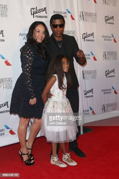 Nicole Patenburg Babyface and Peyton Nicole Edmonds attends the Songwriters Hall Of Fame 48th Annual Induction And Awards at New York Marriott...