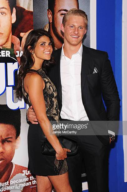 Nicole Pedra and actor Alexander Ludwig attend the 'Grown Ups 2' New York Premiere at AMC Lincoln Square Theater on July 10 2013 in New York City