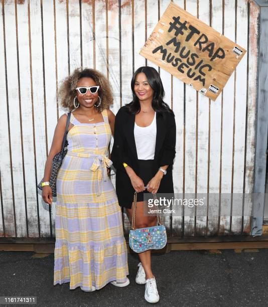 Nicole Plantin and ThuyAnh J Nguyen attend the Lil Trap House Exhibition Launch Event at Delicious Pizza on July 12 2019 in Los Angeles California