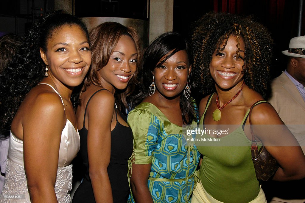 Nicole Powell, Candice Marie Woods, Carla J. Hargrove and Judine Somerville attend 5th Year Anniversary Of HAIRSPRAY With LANCE BASS Premiere Performance After Party at Spotlight Live on August 16, 2007 in New York City.