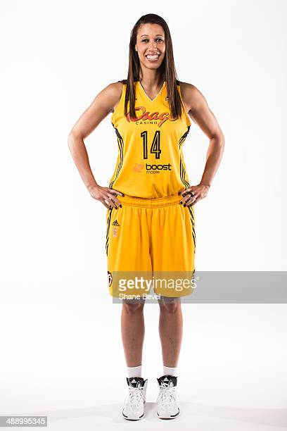 Nicole Powell of the Tulsa Shock poses for a portrait during the Tulsa Shock WNBA Media Day on May 8 2014 at the BOK Center in Tulsa Oklahoma NOTE TO...