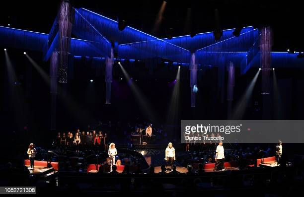 Nicole Pryor and the Las Vegas Academy Choir performs at Las Vegas's 8th annual NF Hope Concert A Benefit for Neurofibromatosis at the Palazzo...