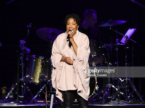 Nicole Pryor performs at Las Vegas's 8th annual NF Hope Concert A Benefit for Neurofibromatosis at the Palazzo Theatre at The Palazzo Las Vegas on...