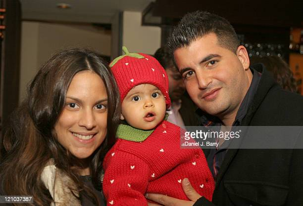 Nicole Reda Charley Reda and Chris Reda during DeMarco's Restaurant Launch and Tasting October 28 2005 at DeMarco's Restaurant in New York City New...