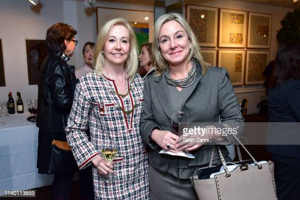 """Nicole Reynolds and Monica Webster attend the """"Little Sister"""" Book Launch Celebration at Michael's Restaurant on April 02, 2019 in New York City."""