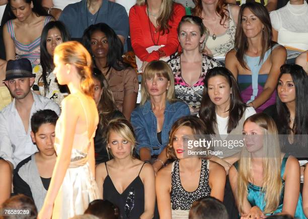Nicole Richie and Actress Molly Sims sit front row at the Max Azria Fashion MercedesBenz Fashion Week Spring 2008 New York New York