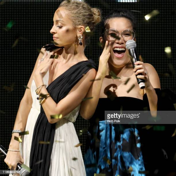Nicole Richie and Ali Wong speak onstage during the 2019 Baby2Baby Gala presented by Paul Mitchell on November 09, 2019 in Los Angeles, California.