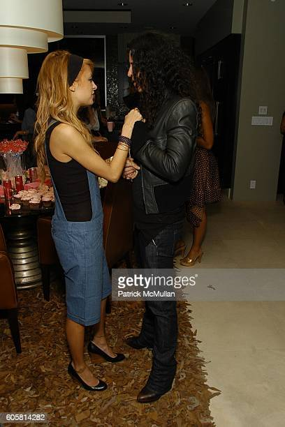 Nicole Richie and Amanda Demme attend Charlotte Ronson Spring 2007 Collection Cocktail Party at Hollywood Hills on October 17 2006
