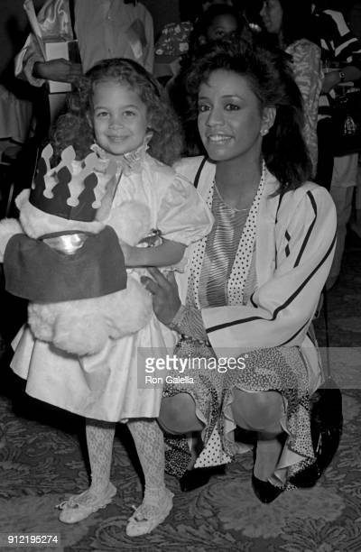 Nicole Richie and Brenda Richie attend Celebrity Mother-Daughter Fashion Show on March 27, 1987 at the Beverly Hilton Hotel in Beverly Hills,...
