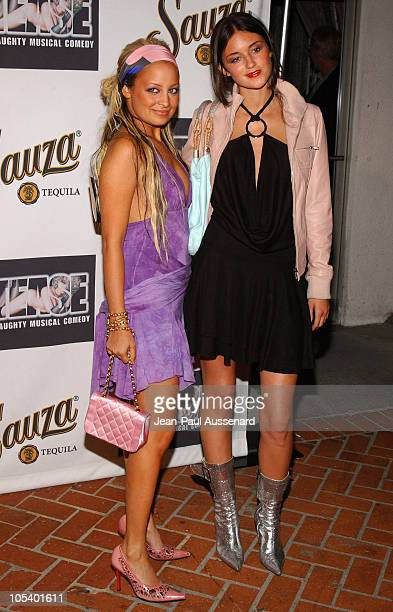 Nicole Richie and Caroline D'amore during Tease Opening Night Arrivals at Century Club Theatre in Los Angeles California United States