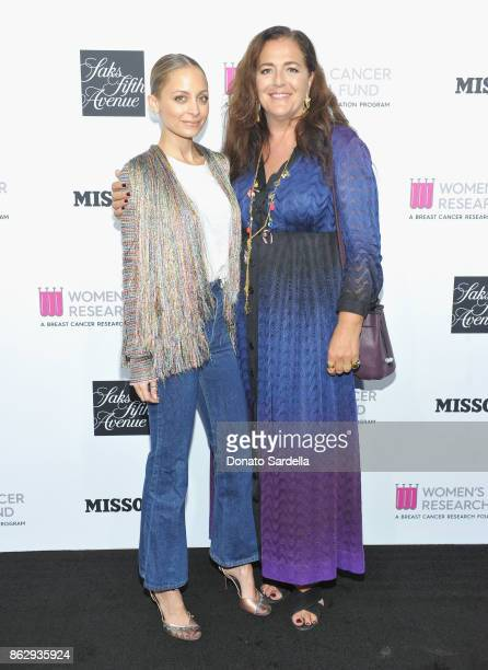 Nicole Richie and Creative Director Missoni Angela Missoni at SAKS FIFTH AVENUE and WOMENS CANCER RESEARCH FUND celebration of KEY TO THE CURE with...