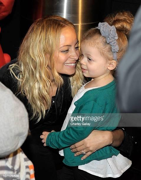 Nicole Richie and daughter Harlow Madden attend YO GABBA GABBA characters at YO GABBA GABBA @ KIA PRESENTS YO GABBA GABBA LIVE THERE'S A PARTY IN MY...