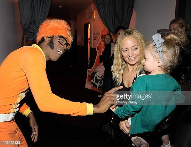 Nicole Richie and daughter Harlow Madden meet DJ Lance Rock backstage at YO GABBA GABBA @ KIA PRESENTS YO GABBA GABBA LIVE THERE'S A PARTY IN MY CITY...