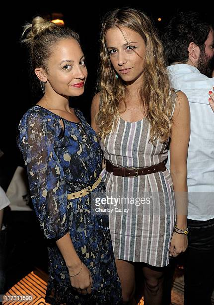 Nicole Richie and designer Charlotte Ronson attend the I 'Heart' Ronson Bowling Party presented by SVEDKA Vodka at The Spare Room on June 21 2011 in...