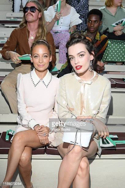 Nicole Richie and Emma MacKey attend Miu Miu club event at Hippodrome d'Auteuil on June 29 2019 in Paris France