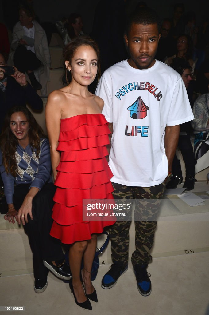 Nicole Richie and Frank Ocean attend the Valentino Fall/Winter 2013 Ready-to-Wear show as part of Paris Fashion Week on March 5, 2013 in Paris, France.