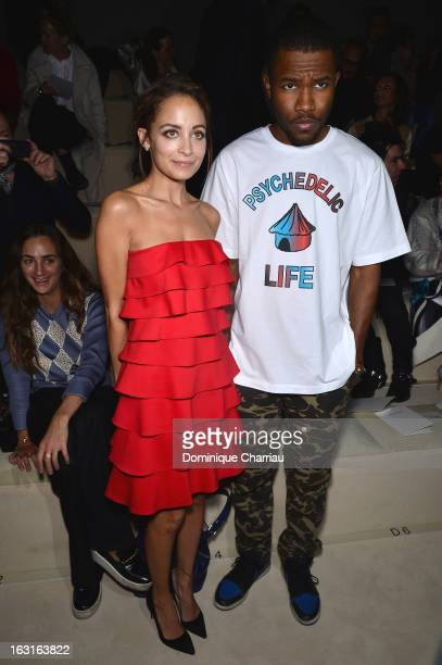 Nicole Richie and Frank Ocean attend the Valentino Fall/Winter 2013 ReadytoWear show as part of Paris Fashion Week on March 5 2013 in Paris France