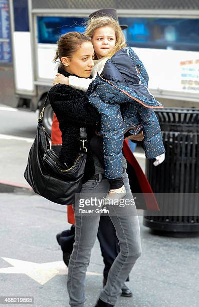 Nicole Richie and Harlow Madden are seen on February 09, 2014 in Los Angeles, California.