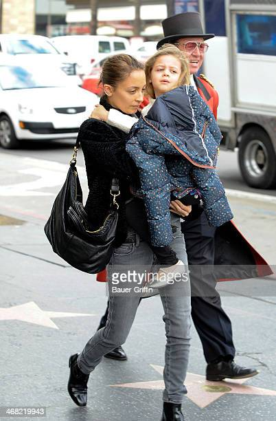 Nicole Richie and Harlow Madden are seen on February 09 2014 in Los Angeles California