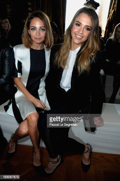 Nicole Richie and Jessica Alba attend the Stella McCartney Fall/Winter 2013 ReadytoWear show as part of Paris Fashion Week on March 4 2013 in Paris...